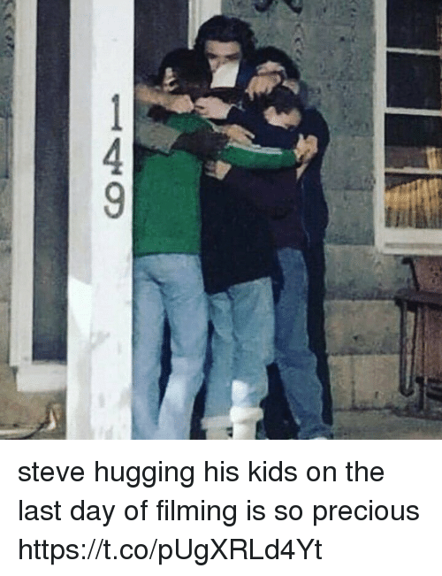 Precious, Kids, and Girl Memes: 149 steve hugging his kids on the last day of filming is so precious https://t.co/pUgXRLd4Yt