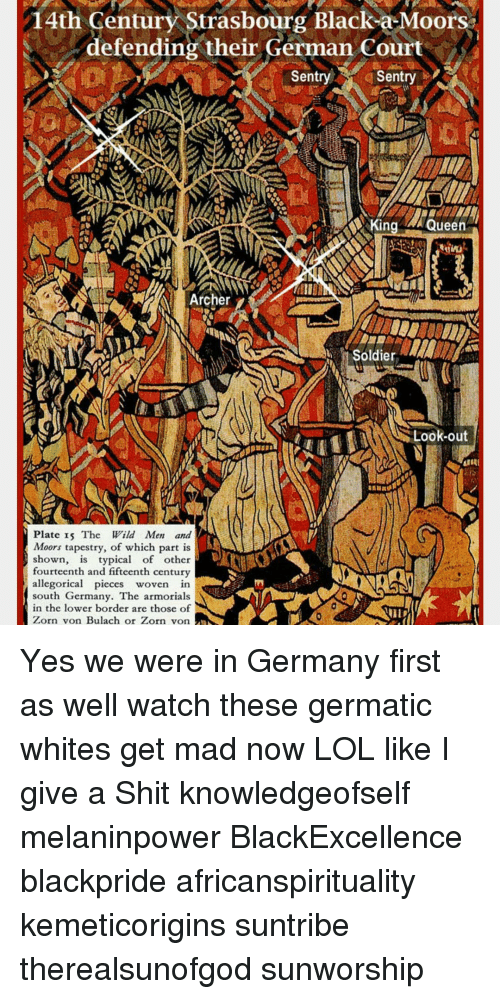 Memes, Soldiers, And Archer: 14th Century Strasbourg Black A Moors Their  German Court