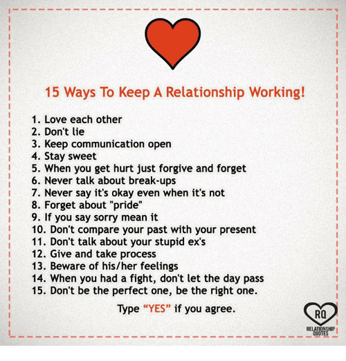 Ways To Keep A Relationship Working