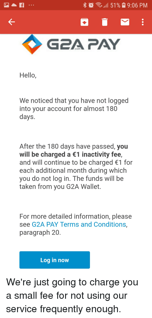 151 % 906 PM G2A PAY Hello We Noticed That You Have Not
