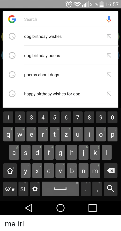 1657 31 Search Dog Birthday Wishes Dog Birthday Poens Poems About