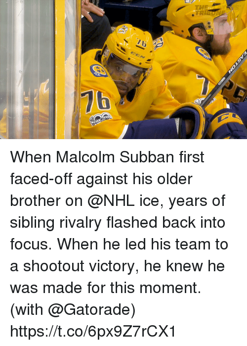 16 76 When Malcolm Subban First Faced Off Against His Older Brother