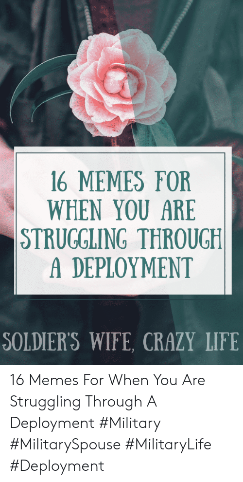 16 MEMES FOR WHEN YOU ARE STRUGGLING THROUGH a DEPLOYMENT