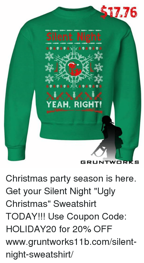 1776 Yeah Right G Runtw O S Christmas Party Season Is Here Get Your