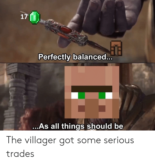 17 Perfectly Balanced as All Things Should Be the Villager Got Some