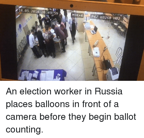 18032018 204959 MSK+4P42 K0268 H02 an Election Worker in