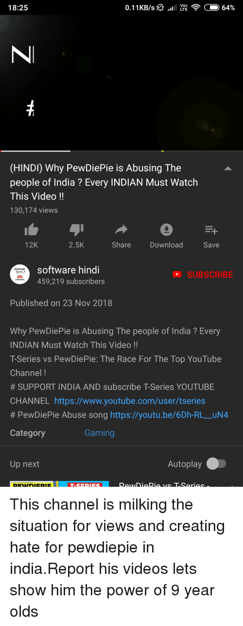1825 HINDI Why PewDiePie Is Abusing the People of India? Every