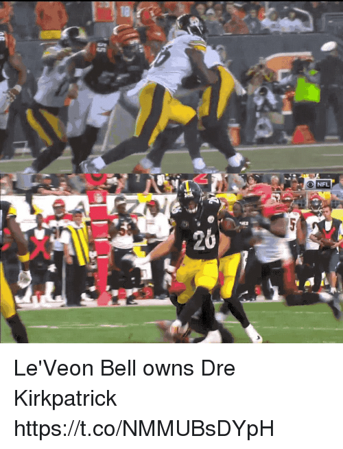 Nfl, Bell, and Dre: 18  26 Le'Veon Bell owns Dre Kirkpatrick https://t.co/NMMUBsDYpH