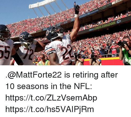Memes, Nfl, and 🤖: 18  35 CHH  17 .@MattForte22 is retiring after 10 seasons in the NFL: https://t.co/ZLzVsemAbp https://t.co/hs5VAIPjRm