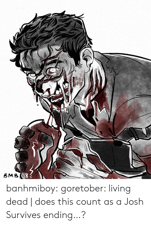 Tumblr, Blog, and Http: 18  BMB banhmiboy:  goretober: living dead | does this count as a Josh Survives ending…?