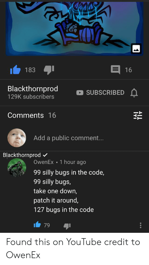 183 16 Blackthornprod SUBSCRIBED 129K Subscribers Comments
