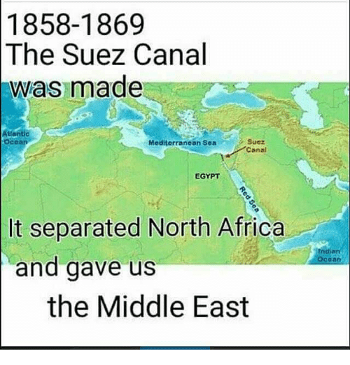 18581869 the Suez Canal Was Made Atlantic Ocoan Mediterranean Sea
