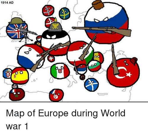 1914 AD D キ «O Map of Europe During World War 1 | Meme on ME.ME