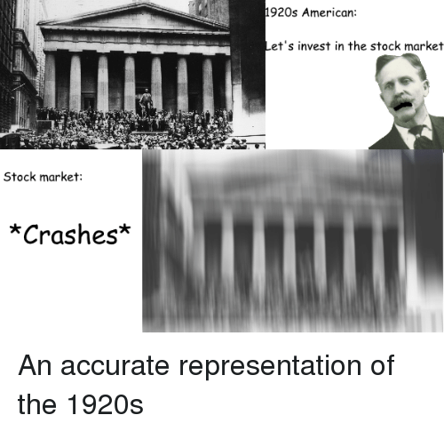 1920s american et s invest in the stock market stock market crashes
