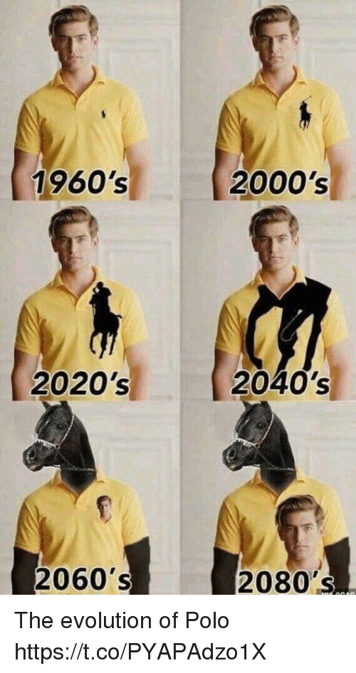 1960s 2000s 2020s 2040s 2060s 2080s the evolution of polo 27698475 ✅ 25 best memes about evolution of evolution of memes,Memes Evolution