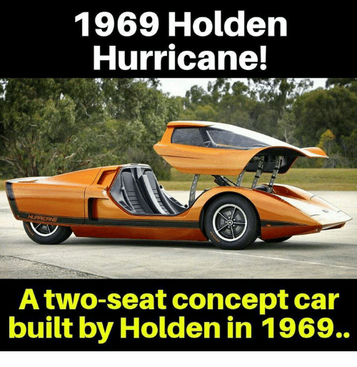 1969 Holden Hurricane Atwo Seat Concept Car Built By Holden In 1969