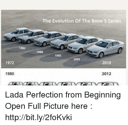 1972 1980 1982 the Evolution of the Bmw 5 Series 1988 1995 2003 2010 ...