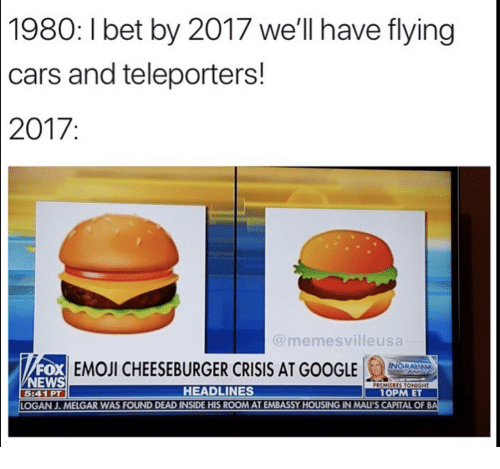 1980 i bet by 2017 we ll have flying cars and teleporters 2017 fox
