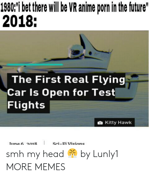 Anime, Dank, and Head: 1980'i bet there willbe VR anime porn in the ftuture  2018:  The First Real Flying  Car Is Open for Test  Flights  a Kitty Hawk  Sci-Bi Visions smh my head 😤 by Lunly1 MORE MEMES