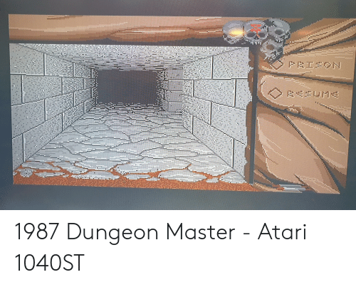 1987 Dungeon Master - Atari 1040ST | Atari Meme on ME ME