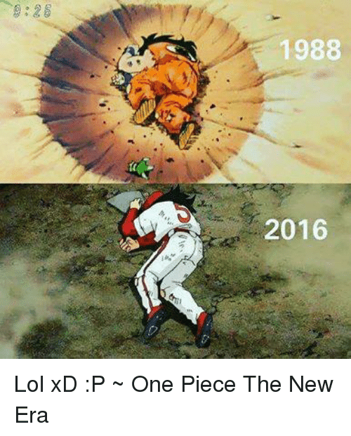 Memes, One Piece, and 🤖: 1988  2016 Lol xD :P   ~ One Piece The New Era