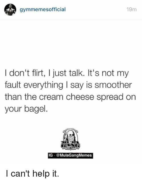 flirting meme with bread without milk cream cheese