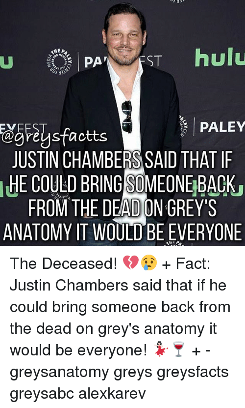 1hea Hulu St Paley Evrest Reus Justin Chambers Said That If He Could