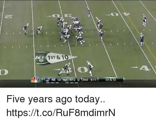 """9/11, Football, and Nfl: 1ST & 10  NE 14..) NYJ 0""""2nd 9:11,  1st& 10 Five years ago today.. https://t.co/RuF8mdimrN"""