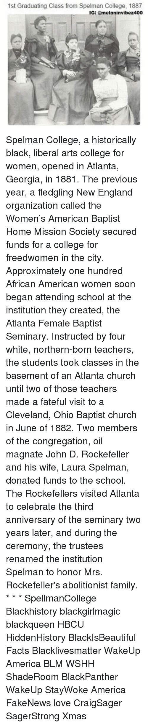 acirc best memes about liberal arts college liberal arts blackhistory church and college 1st graduating class from spelman college 1887 ig
