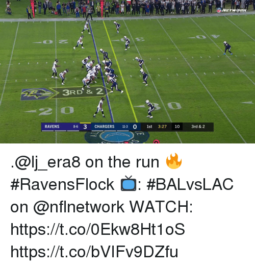 Memes, Run, and Chargers: 2 0  0  RAVENS3 CHARDERS  8-6 3 CHARGERS 113 0 1st 3:27 10 3rd & 2 .@lj_era8 on the run 🔥 #RavensFlock  📺: #BALvsLAC on @nflnetwork WATCH: https://t.co/0Ekw8Ht1oS https://t.co/bVIFv9DZfu