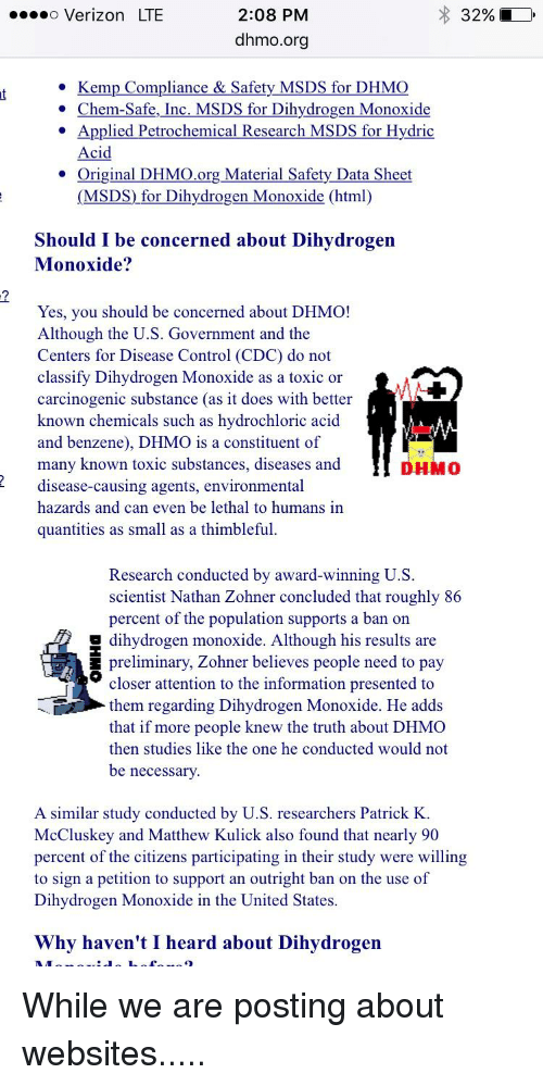 should dihydrogen monoxide be banned essay Before i was able to determine if dihydrogen monoxide (dhmo) should be  banned from use or not, i had to find out what exactly dhmo was dihydrogen.