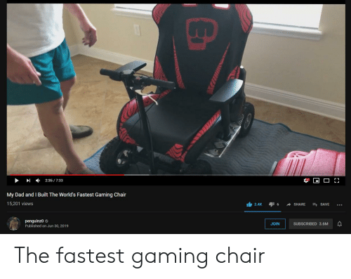 Admirable 235733 My Dad And I Built The Worlds Fastest Gaming Chair Gmtry Best Dining Table And Chair Ideas Images Gmtryco