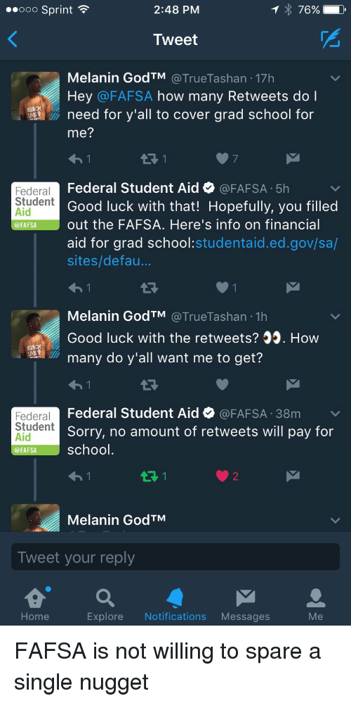 What does FAFSA cover?