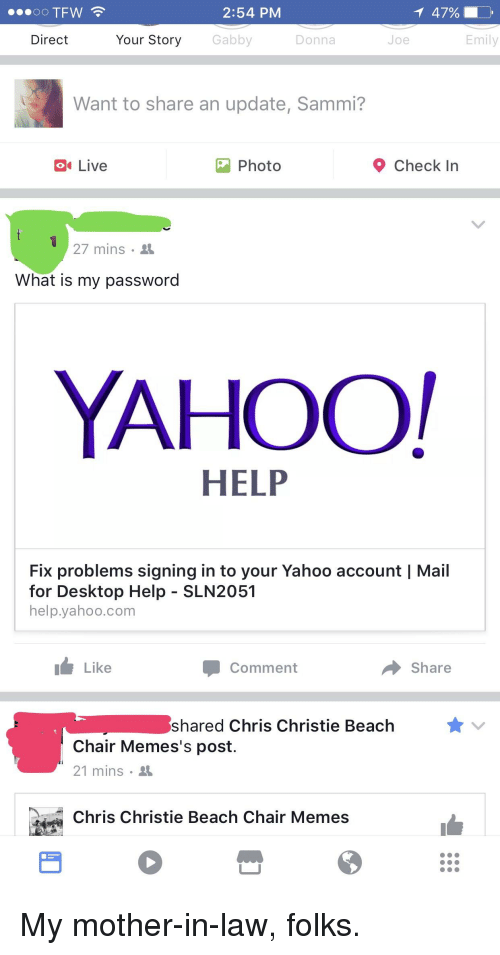 yahoo issues signing in