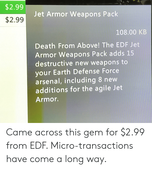 $299 $299 Jet Armor Weapons Pack 10800 KB Death From Above