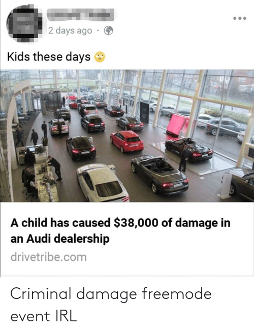 Audi Dealership Near Me >> 2 Days Ago Kids These Days A Child Has Caused 38000 Of