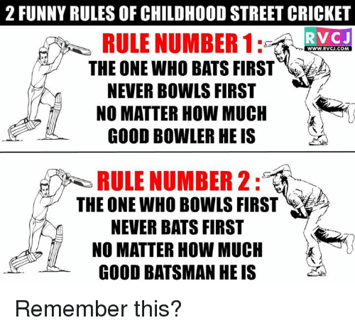 2 FUNNY RULES OF CHILDHOOD STREET CRICKET RULE NUMBER 1 RVC