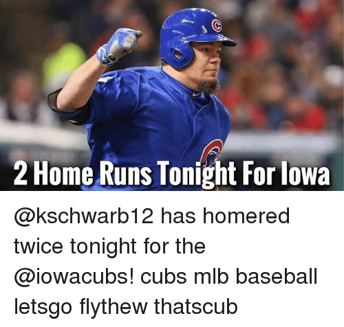 5db082a16f6 2 Home Runs Tonight for Lowa Has Homered Twice Tonight for the Cubs ...