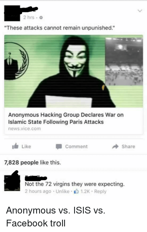 25+ Best Memes About Anonymous vs Isis | Anonymous vs Isis Memes