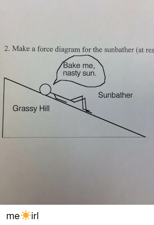 Baked Nasty And 2 Make A Force Diagram For The Sunbather Meirl