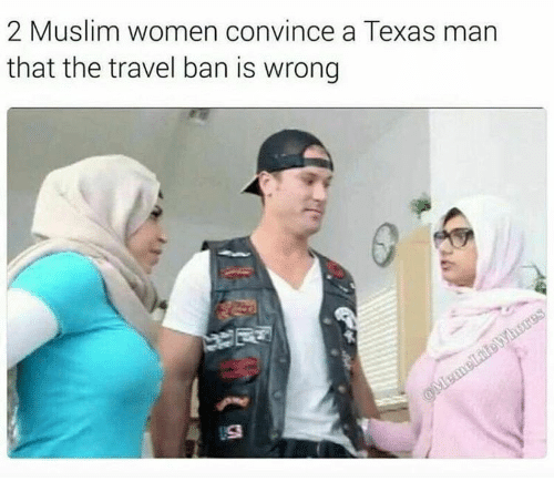 2 muslim women convince a texas man that the travel 14842883 2 muslim women convince a texas man that the travel ban is wrong