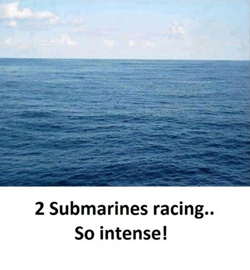 SIZZLE: 2 Submarines racing.  So intense!