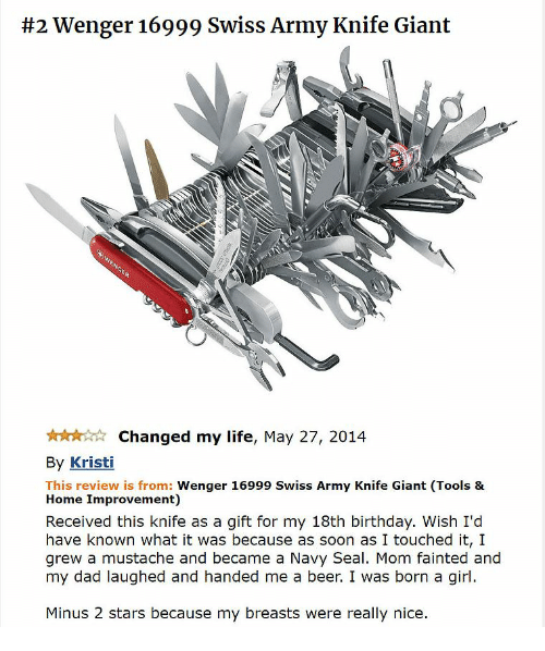2 wenger 16999 swiss army knife giant changed my life may 27 2014 by