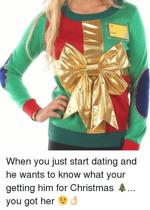 what to get someone you just started dating for christmas