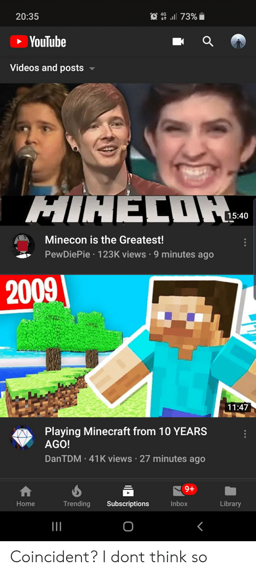 2035 Youtube Videos And Posts Mihecih 1540 Minecon Is The Greatest