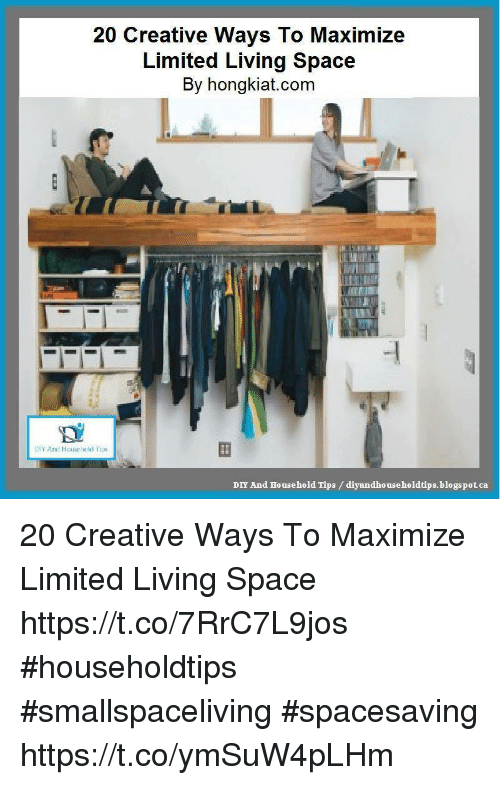 Memes, Blogspot, And Limited: 20 Creative Ways To Maximize Limited Living  Space By