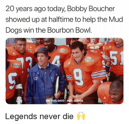 20 Years Ago Today Bobby Boucher Showed Up at Halftime to Help the ... d9a59020821c