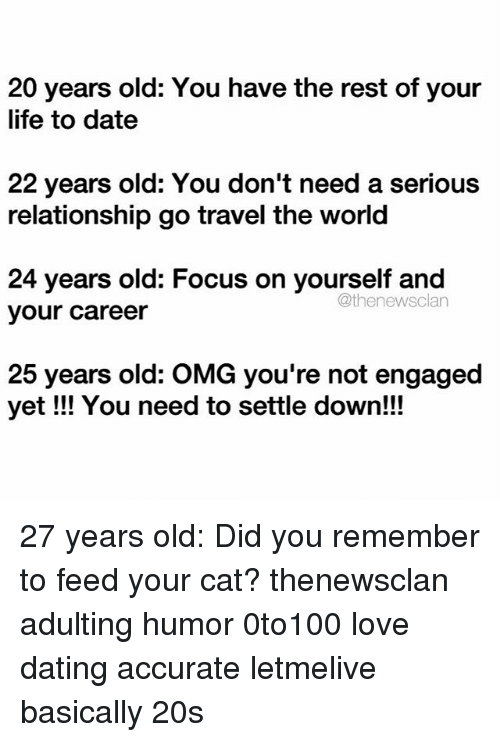 25 dating a 20 year old