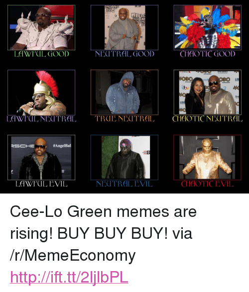 "Bailey Jay, Memes, and Angel: 200  TE  AOSO  LE  Lv  firs  LEE  MO  LAWFUL, NEUTRAL TRUENECTRAL CHAOTICNEOTRAL  #Angel Bal  NEUTRAL EVIL  CHAOTICEVIL  LAWFUL EVIL <p>Cee-Lo Green memes are rising! BUY BUY BUY! via /r/MemeEconomy <a href=""http://ift.tt/2ljlbPL"">http://ift.tt/2ljlbPL</a></p>"