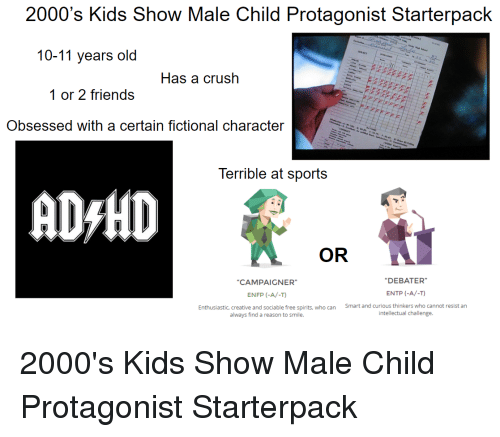 2000's Kids Show Male Child Protagonist Starterpack 10-11